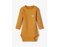 Name It body med lange ærmer - bone brown