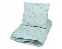 Cam Cam junior sengetøj - Dandelion petroleum - 100x140 cm.