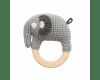 Sebra Hæklet Rangle Elefanten Fanto - Classic Grey