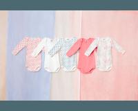 Petit Bateau 5 bodystockings - lyserød