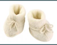 Engel babyfutter med snøre str. 0-3 mdr. - natur