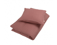Filibabba babysengetøj muslin 70x100 cm - dusty rose