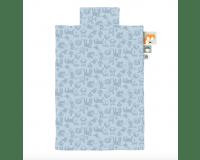 Sebra junior sengetøj - forest powder blue