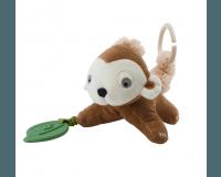 Sebra aktivitetslegetøj aben Maci - almond brown