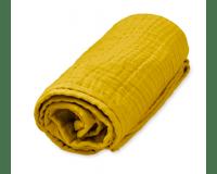 Cam Cam muslin babytæppe 100x100 cm - mustard