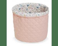 Cam Cam quiltet medium opbevaringskurv - blossom pink
