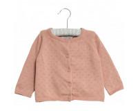 WHEAT strikket cardigan mini - Misty Rose