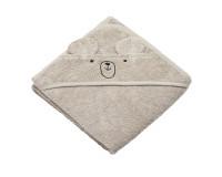 Tiny Republic håndklæde m. hætte & bamsen Charlie - Sand