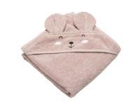 Tiny Republic håndklæde m. hætte & musen Ella - rosa