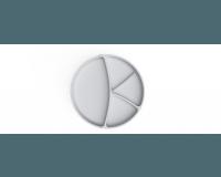 Everyday Baby - Silikone Tallerken, 1 stk - Lys grå