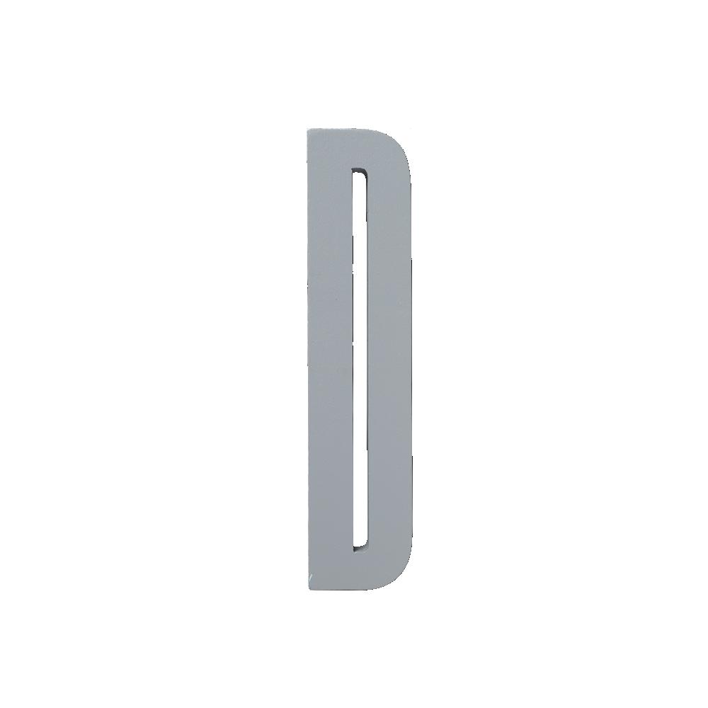 Design Letters Trä Bokstav D - Grå