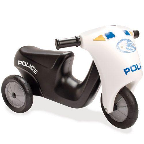 Dantoy Polis Scooter med Gummihjul