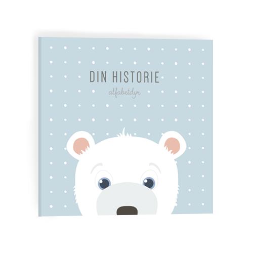 Alfabetdyr – Alfabetdyr din historie - blå isbjørn, 2 stk. på lager på pixizoo