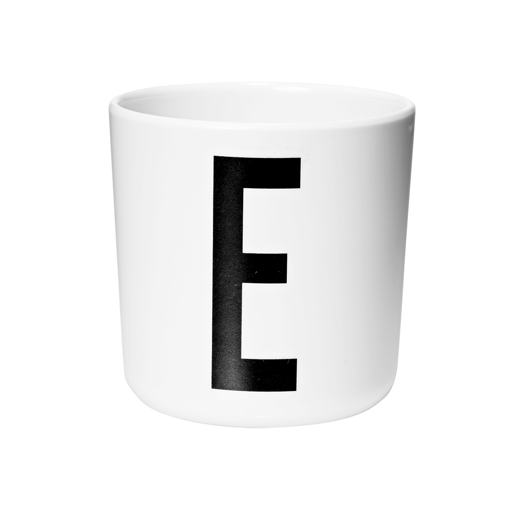 Design letters aj melamin cup - e , 2 stk. på lager fra Designletters fra pixizoo