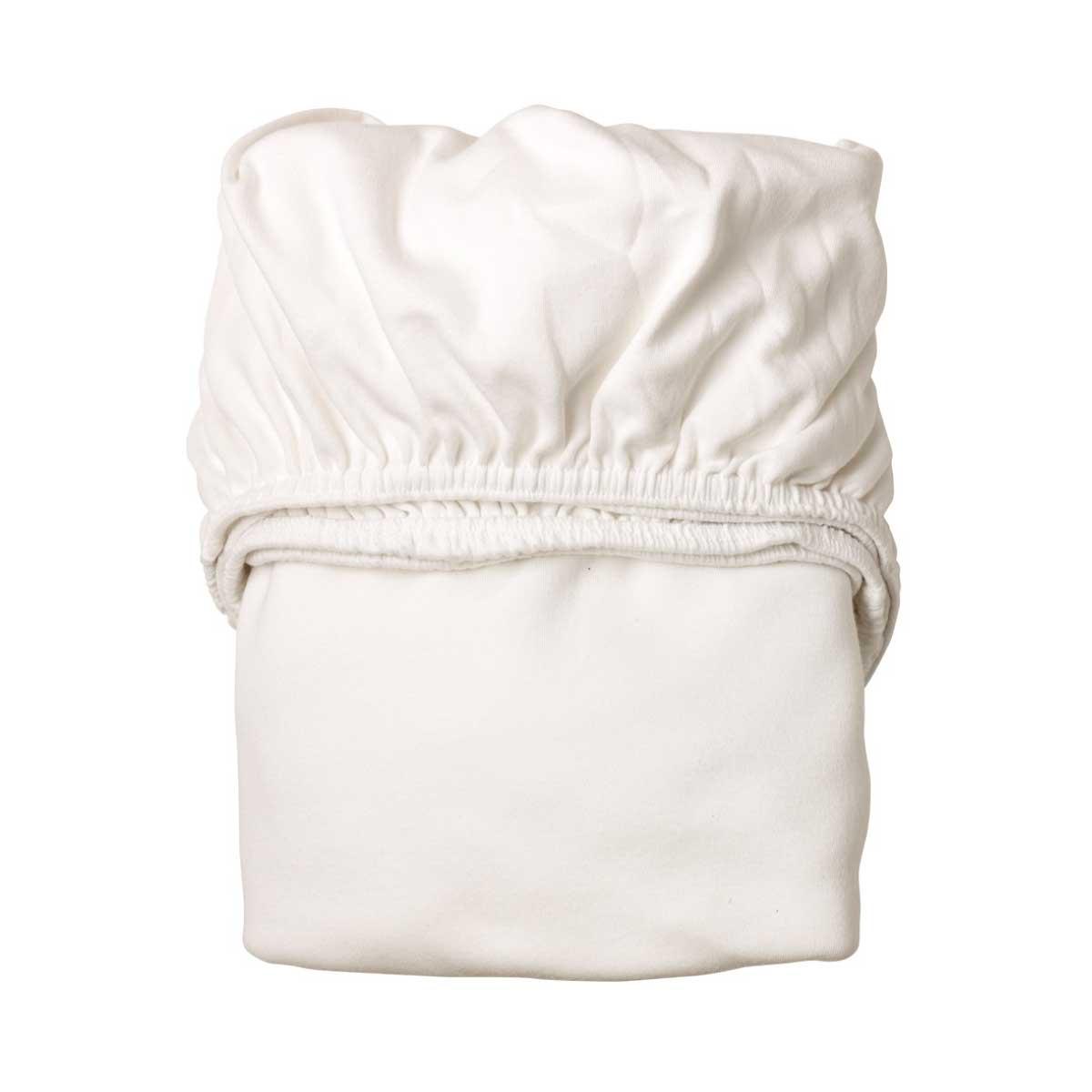 Leander 2-Pack Underlakan till Babysäng - Vit
