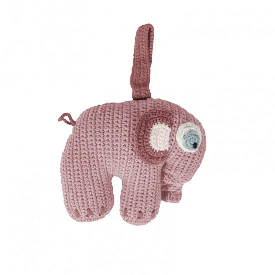 Sebra Elefant Speldosa - Rosa
