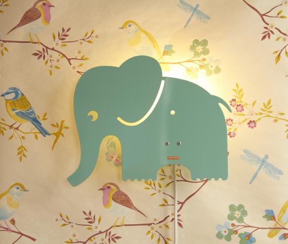 Roommate Elefant Lampa - Blå