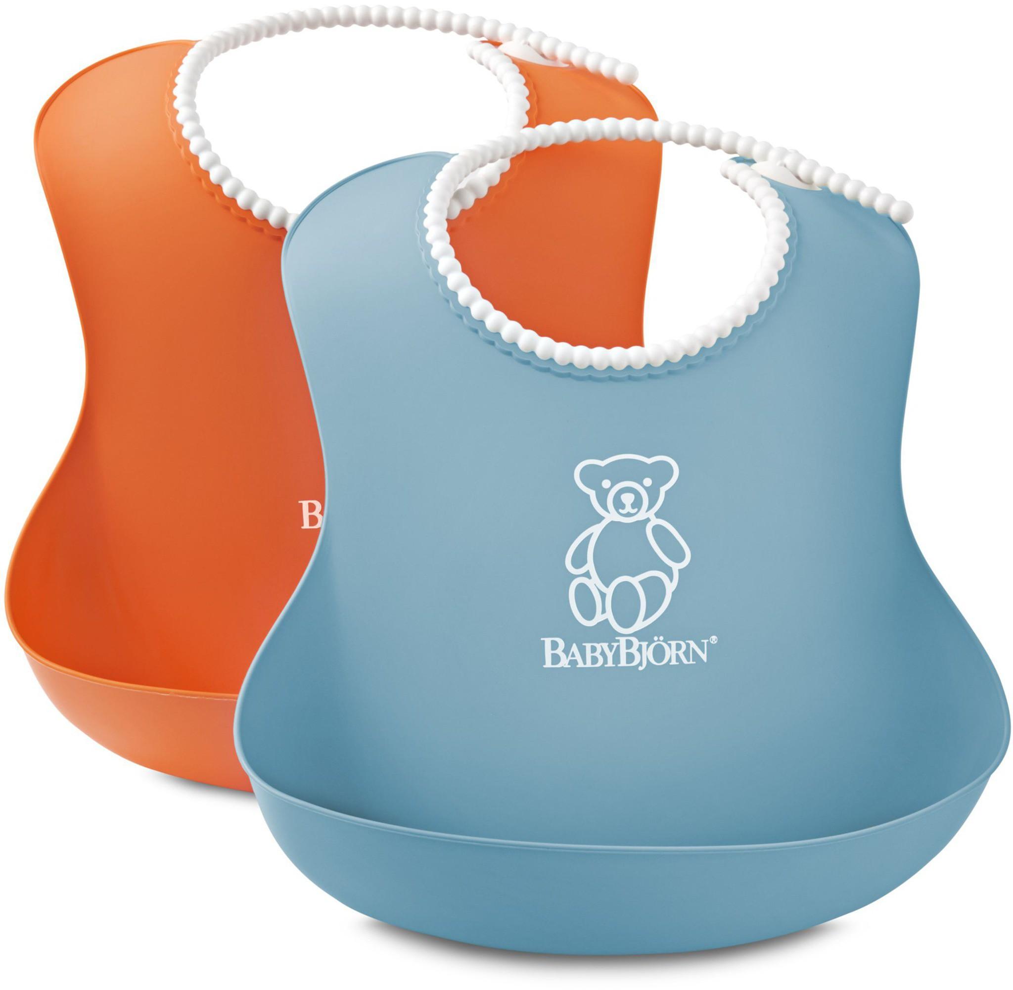 Babybjörn soft bib 2-pack  - orange/turkis, +10 stk. på lager fra Babybjã–rn fra pixizoo
