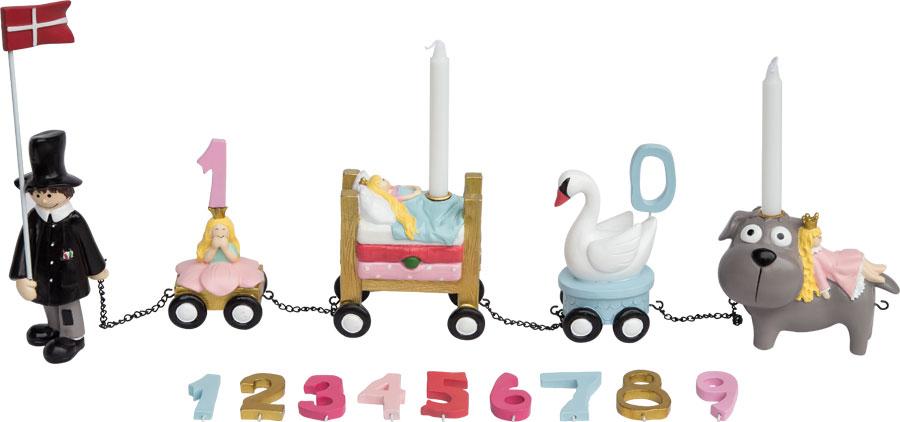 Kids by friis - fødselsdagstog, h.c. andersen pige , 4 stk. på lager fra Kids by friis på pixizoo