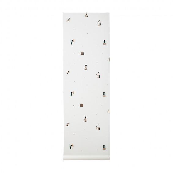 Ferm living Ferm living party wallpaper, 1 stk. på lager på pixizoo