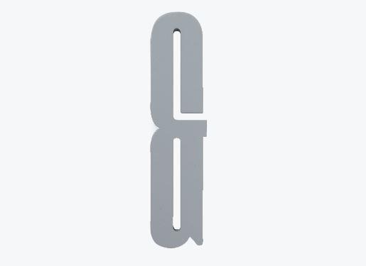 Design Letters Trä Bokstav & - Grå