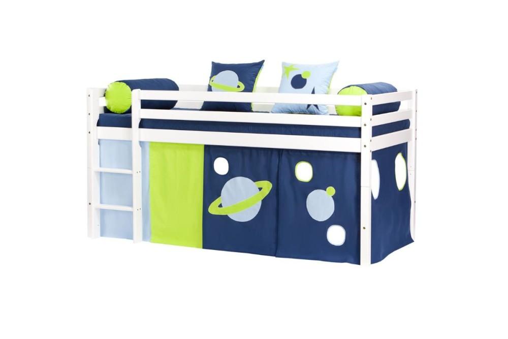 Hoppekids – Hoppekids space forhæng til halvhøj seng, 1 stk. på lager fra pixizoo