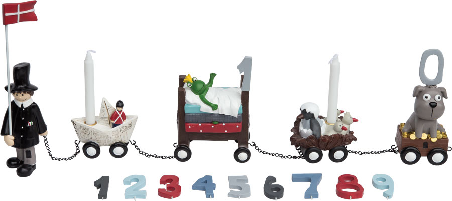 Kids by friis – Kids by friis - fødselsdagstog, h.c. andersen dreng, 3 stk. på lager fra pixizoo