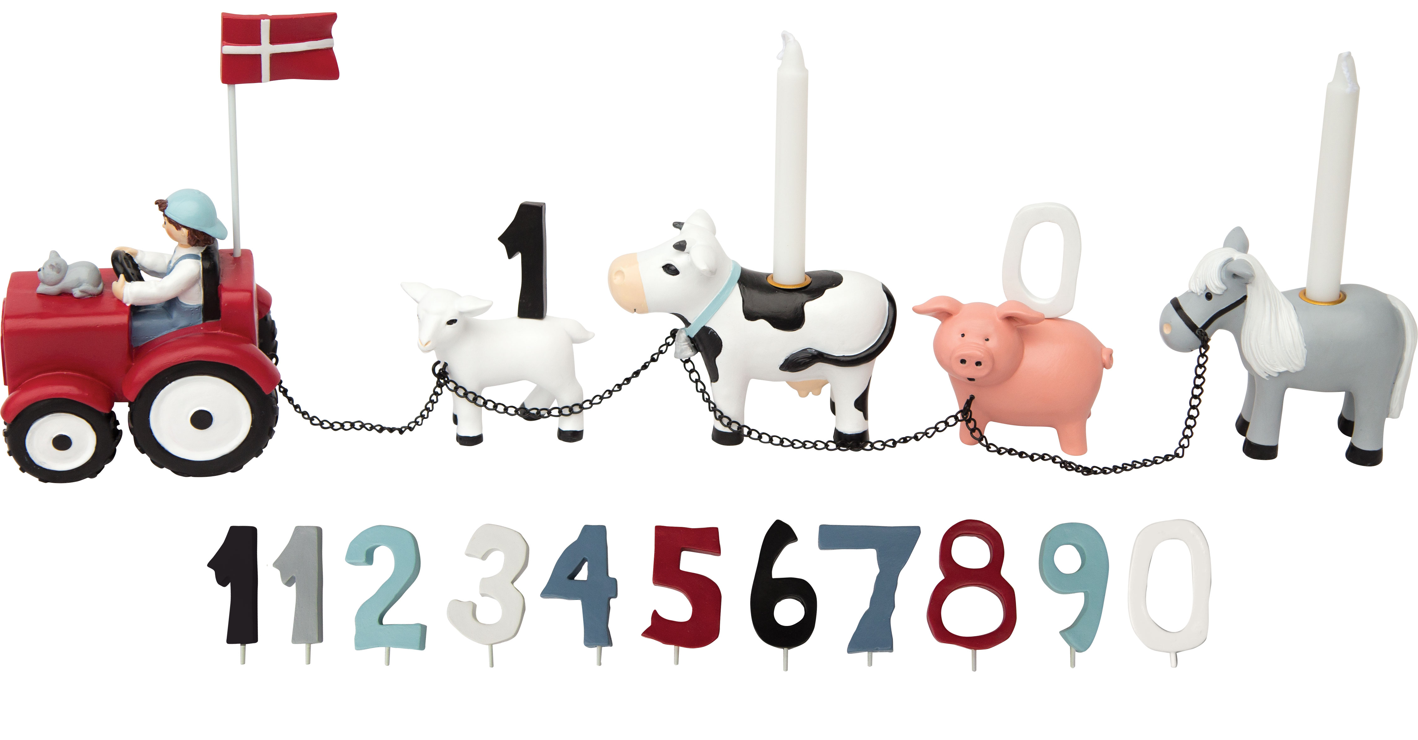 Kids by friis Bondegård 11 tal fødselsdagstog - kids by friis, 10 stk. på lager på pixizoo