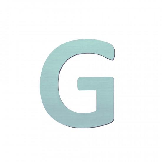 Sebra Träbokstav G - Blå