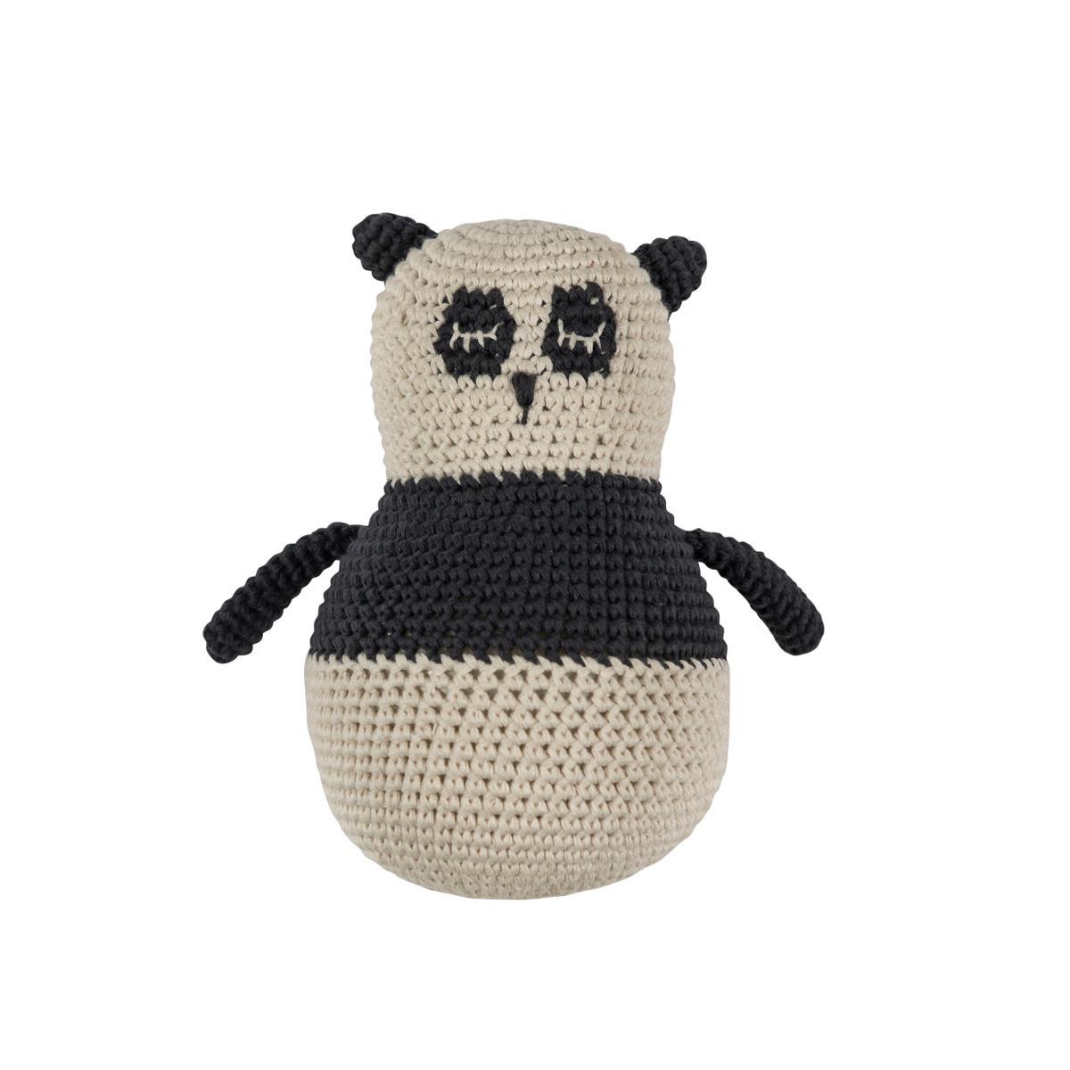 Sebra – Sebra hæklet tumling - panda, 4 stk. på lager fra pixizoo