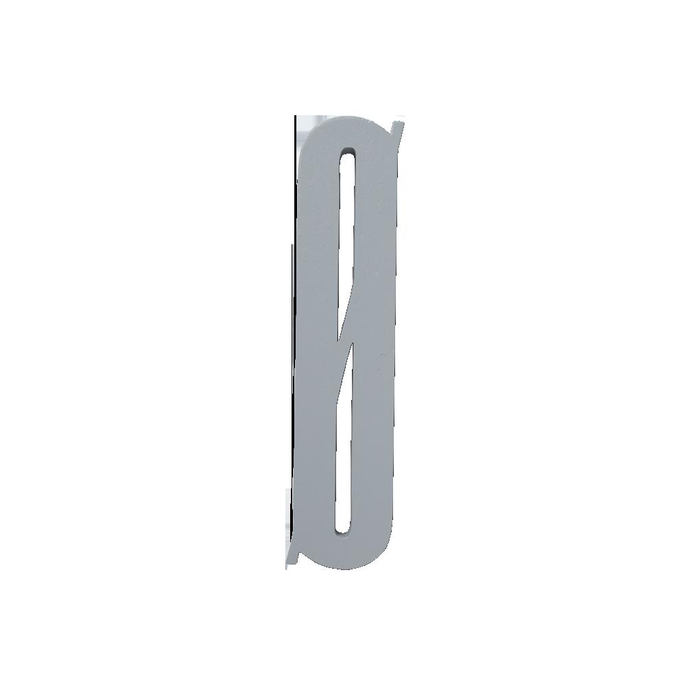 Design Letters Trä Bokstav Ø - Grå