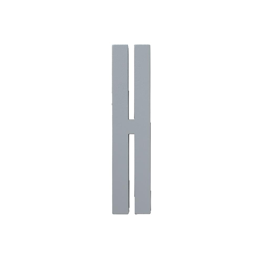Design Letters Trä Bokstav H - Grå