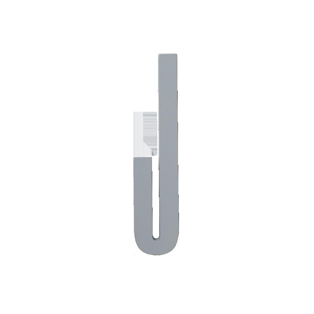 Design Letters Trä Bokstav J - Grå