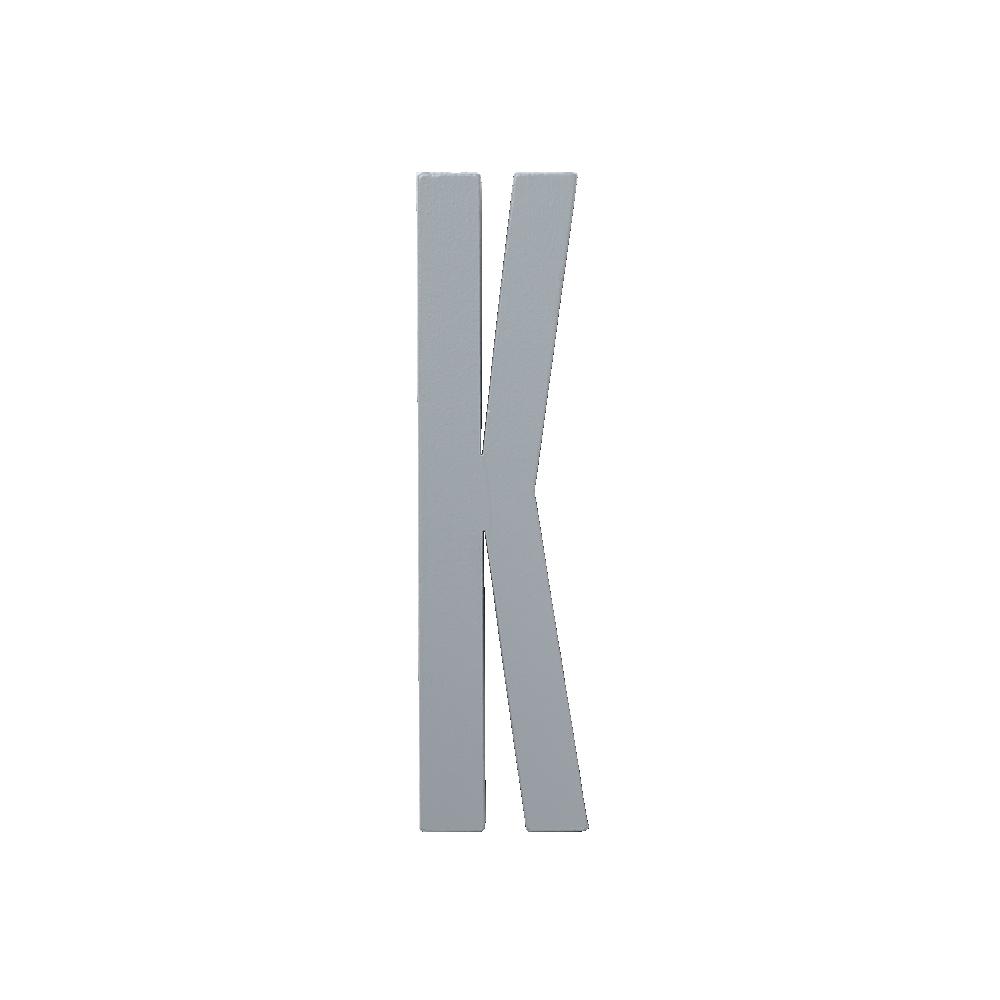 Design Letters Trä Bokstav K - Grå