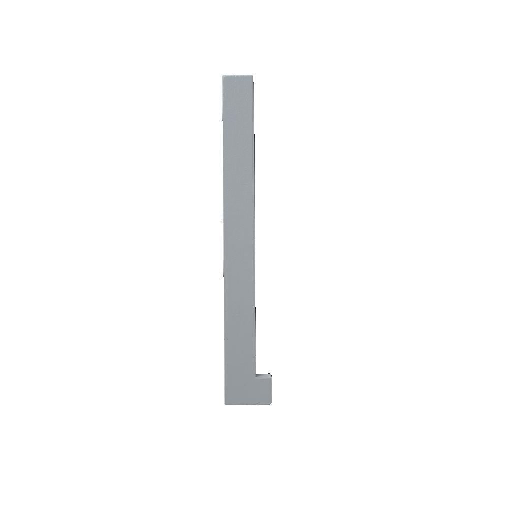 Design Letters Trä Bokstav L - Grå