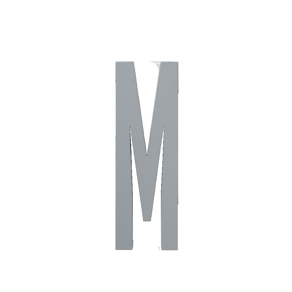 Design Letters Trä Bokstav M - Grå