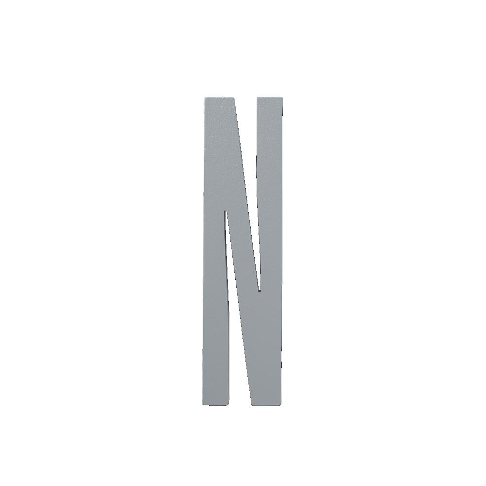 Design Letters Trä Bokstav N - Grå