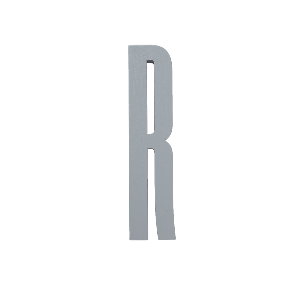 Design Letters Trä Bokstav R - Grå