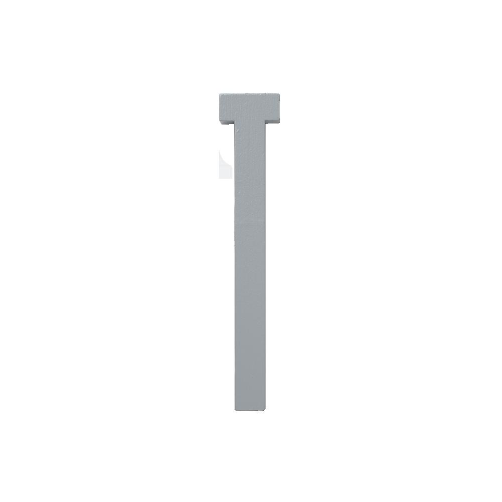 Design Letters Trä Bokstav T - Grå