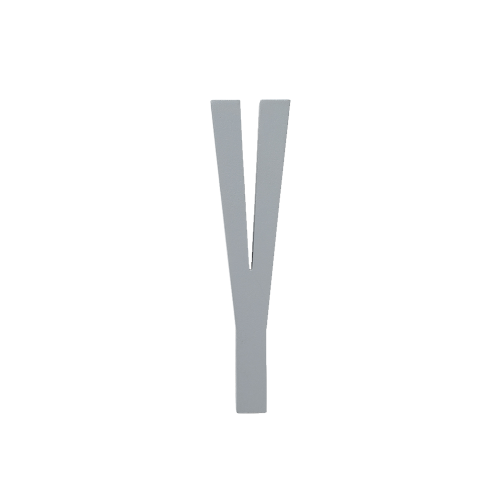 Design Letters Trä Bokstav Y - Grå