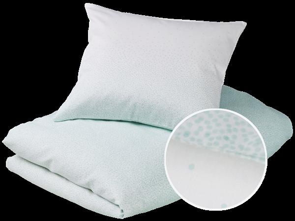 Gubini – Gubini junior bedding - snowfall mint sengetøj, 6 stk. på lager på pixizoo