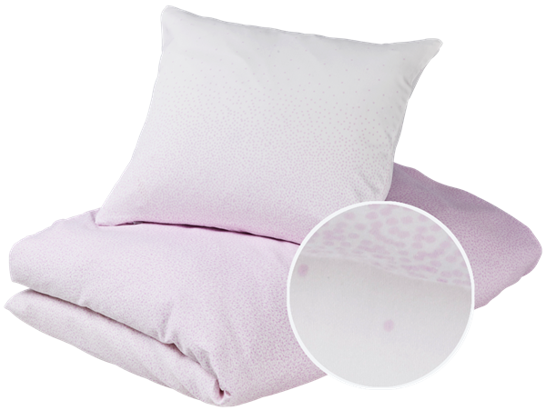 Gubini – Gubini baby bedding - snowfall violet sengetøj, 5 stk. på lager på pixizoo