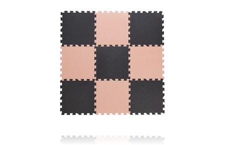 Baby dan legegulv, tykt skum 30x30 cm, grå/rosa legegulv, 3 stk. på lager fra Baby dan fra pixizoo