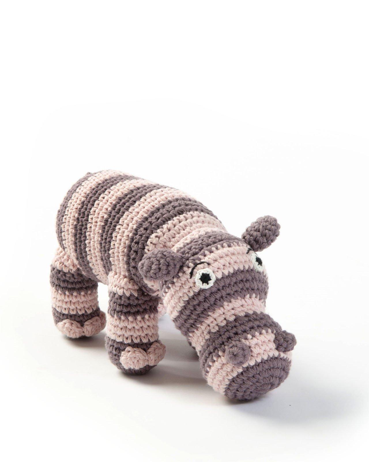 Smallstuff Mjukisdjur Flodhäst - Puder
