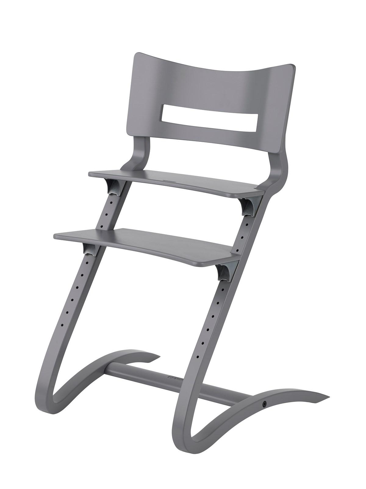 Leander højstol u/bøjle - grå, 2 stk. på lager fra Leander på pixizoo