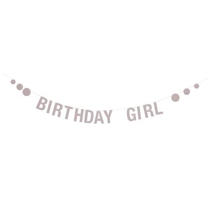 Bloomingville Birthday Girl Girlang - Rosa