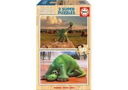 Educa Den Gode Dinosaurien Pussel 2 x 50 Bitar