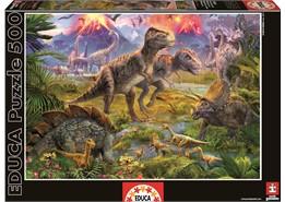Educa – Educa - dinosaur gathering (500 pcs), 2 stk. på lager på pixizoo