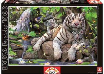 Educa Educa - bengal white tigers (1000 pcs), 2 stk. på lager fra pixizoo