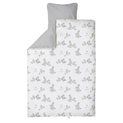 Baby dan - junior sengesæt bunnyhop grå 100x140/40x45 , 3 stk. på lager fra Baby dan på pixizoo